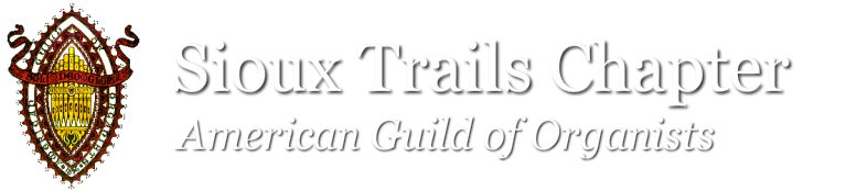 American Guild of Organists  Sioux Trails Chapter